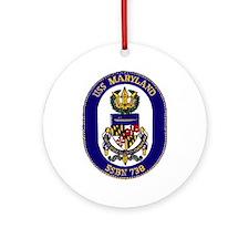 USS Maryland SSBN 738 Ornament (Round)