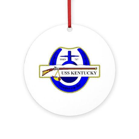 USS Kentucky SSBN 737 Ornament (Round)