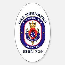USS Nebraska SSBN 739 Oval Decal