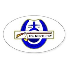 USS Kentucky SSBN 737 Oval Decal