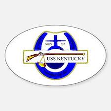 USS Kentucky SSBN 737 Oval Stickers