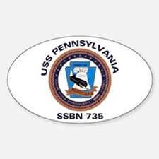 USS Pennsylvania SSBN 735 Oval Decal