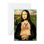 Mona / Lhasa Apso #9 Greeting Cards (Pk of 10)