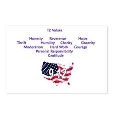 12 Values Postcards (Package o