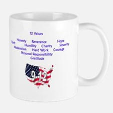 12 Values (9 Principles on re Mug
