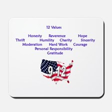 12 Values (9 Principles on re Mousepad
