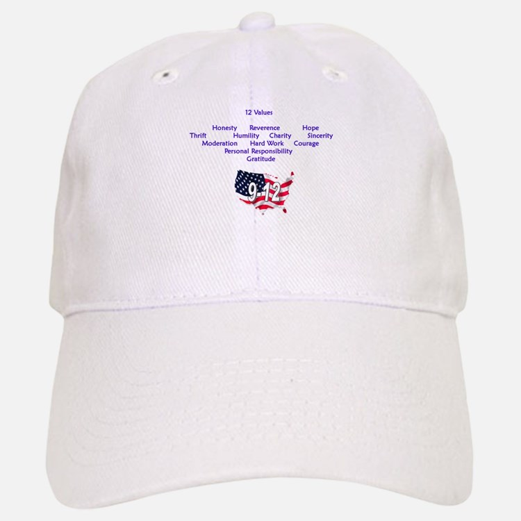 12 Values (9 Principles on re Baseball Baseball Cap