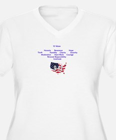 12 Values (9 Principles on re T-Shirt