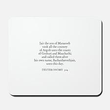 DEUTERONOMY  3:14 Mousepad