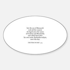 DEUTERONOMY 3:14 Oval Decal