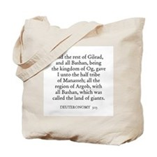 DEUTERONOMY  3:13 Tote Bag