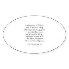 DEUTERONOMY 3:13 Oval Decal