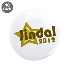 "Jindal 2012 3.5"" Button (10 pack)"