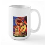 Mandolin / Lhasa Apso #9 Large Mug