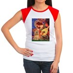 Mandolin / Lhasa Apso #9 Women's Cap Sleeve T-Shir
