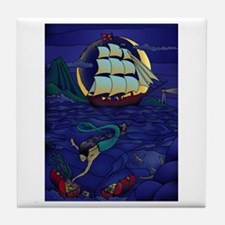 Pirate Mermaid Tile Coaster
