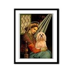 Madonna / Lhasa Apso #9 Framed Panel Print