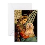 Madonna / Lhasa Apso #9 Greeting Cards (Pk of 10)