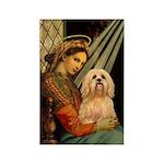 Madonna / Lhasa Apso #9 Rectangle Magnet (10 pack)