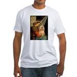 Madonna / Lhasa Apso #9 Fitted T-Shirt