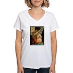 Madonna / Lhasa Apso #9 Women's V-Neck T-Shirt