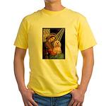 Madonna / Lhasa Apso #9 Yellow T-Shirt