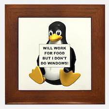 I Don't Do Windows! Framed Tile
