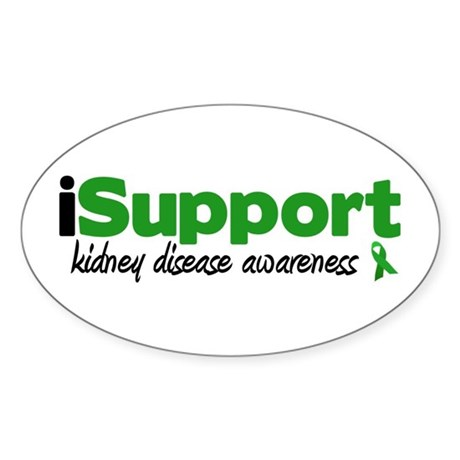 iSupport Kidney Disease Oval Sticker (10 pk)