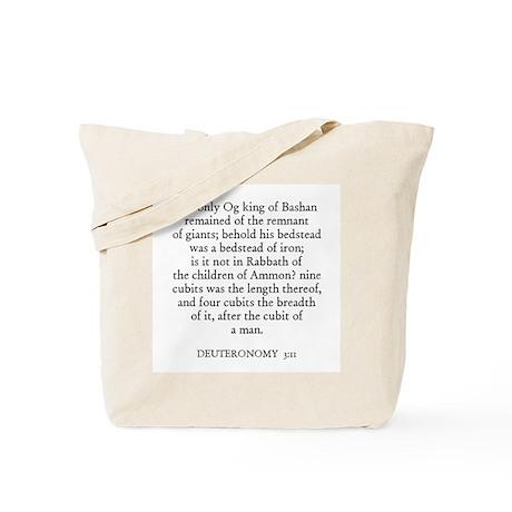 DEUTERONOMY 3:11 Tote Bag