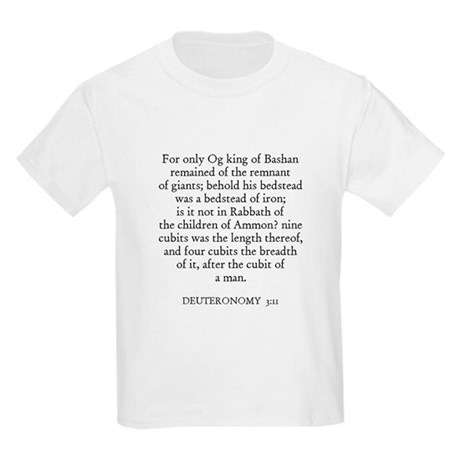 DEUTERONOMY 3:11 Kids T-Shirt