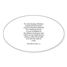 DEUTERONOMY 3:11 Oval Decal