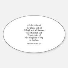 DEUTERONOMY 3:10 Oval Decal