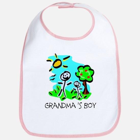 Grandma's Boy (Stick Figure) Bib