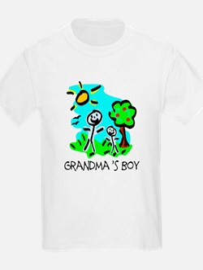 Grandma's Boy (Stick Figure) T-Shirt