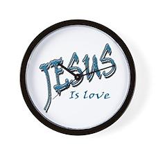 Jesus is love Wall Clock