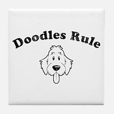 Doodles Rule Tile Coaster