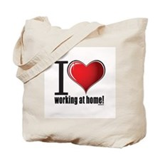 I love working at home! Tote Bag