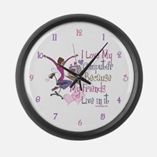 Online Friends Large Wall Clock