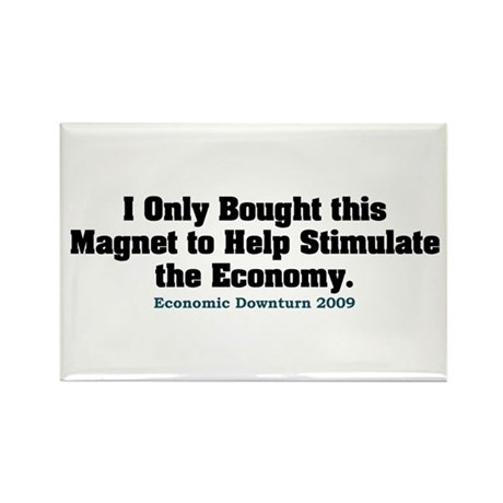 Recession Humor Rectangle Magnet