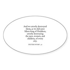 DEUTERONOMY 3:6 Oval Decal