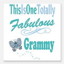 "Fabulous Grammy Square Car Magnet 3"" x 3"""