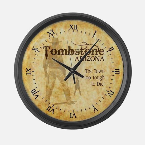 Tombstone Arizona Large Wall Clock