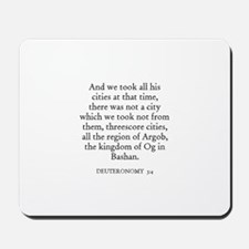 DEUTERONOMY  3:4 Mousepad