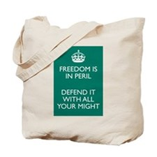 Freedom in Peril Tote Bag