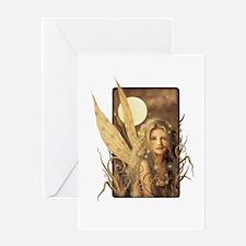 Sepia Fairy Greeting Card