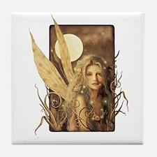 Sepia Fairy Tile Coaster