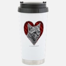 Bengal Cat Heart Travel Mug