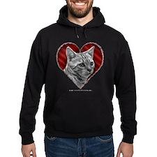Bengal Cat Heart Hoodie