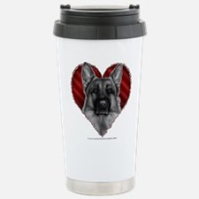 German Shepherd K9 Valentine Travel Mug