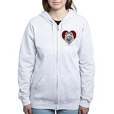 Pomeranian Valentine Zip Hoodie
